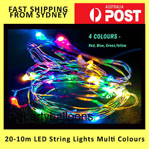 NEW 2/3/4/5/10M LED Battery Powered Wire Mini Fairy String Party Light Button