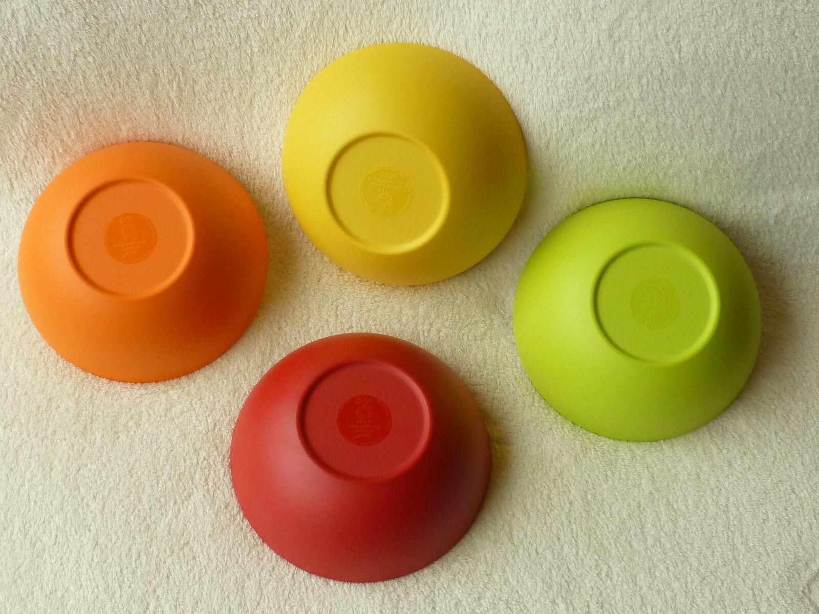 Gimex mélamine camping vaisselle 4 bols à céréales coques set set set rainbow extérieur mat 5bbf87