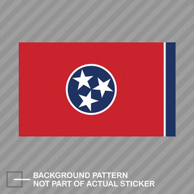 Tennessee State Shaped Flag Sticker Decal Vinyl TN