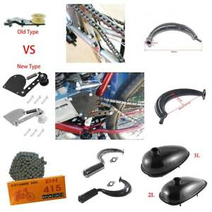 Chain-Tensioner-Muffler-Exhaust-For-49cc-66cc-80cc-Engine-Motorised-Bicycle-Bike