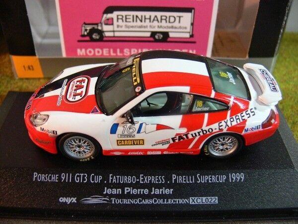 1 43 Onyx xcl022 Porsche 911 gt3 Cup faturbo-express faturbo-express faturbo-express pirelli Supercup'99 Jarier fdceb1