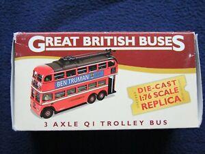 Corgi Great British Buses3 Axle Q1 Trolley Bus 1:76