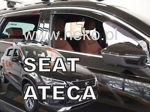 SET OF 4 HEKO TINTED WIND DEFLECTORS for SEAT ATECA 2016-up