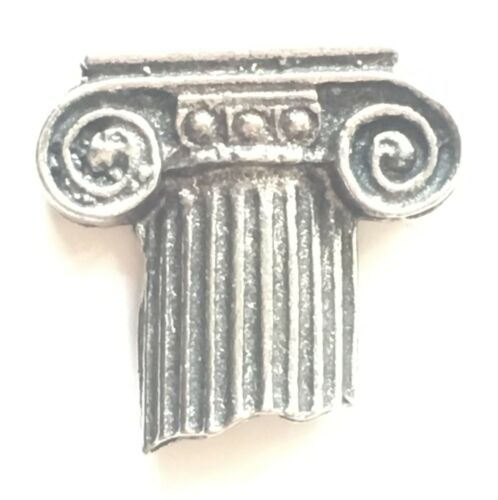 Roman Column Pewter Lapel Pin Badge