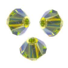 15 Perles Toupies 4mm Cristal Swarovski  - OLIVINE AB2X