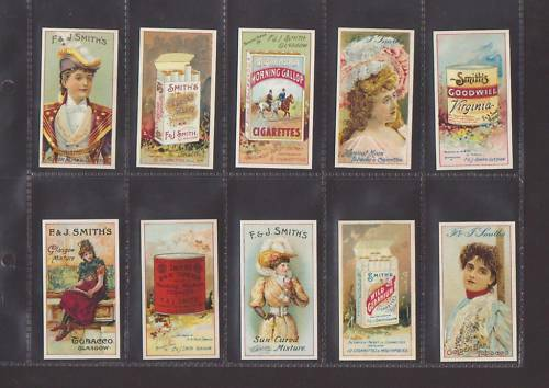 SET OF 25 ADVERTISEMENT CARDS REPRO SMITH