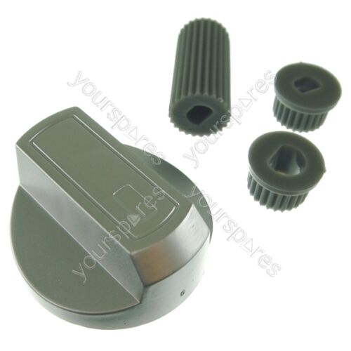 Servis Universal Cooker//Oven//Grill Control Knob And Adaptors Silver