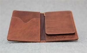 Leather-wallet-bifold-money-clip-buffalo-CF-small-men-men-039-s-Billy-Goat-Designs