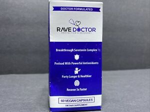Rave Doctor Protection & Recovery 60 Vegan Capsules, Expires 01/2023 FAST SHIP.