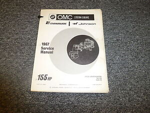 1967 omc stern drive johnson evinrude 155 hp shop service repair rh ebay com OMC Sterndrive Repair Manual OMC Sterndrive Repair Manual
