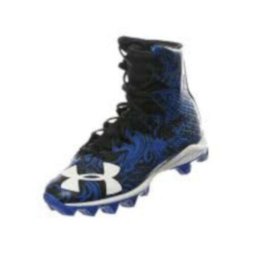 New Men/'s Under Armour Highlight RM Lacrosse Cleats Blue//Black Sz 11 M