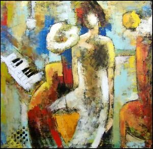 Helen-Zarin-Concerto-Oil-Canvas-stretched-Hand-Signed-Make-an-Offer