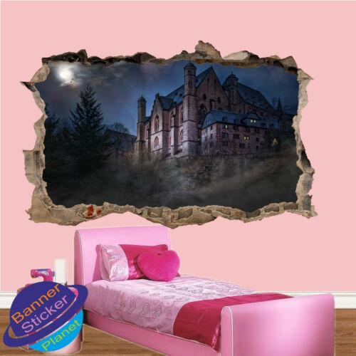 Haunted Mansion Château Fantôme Art Autocollant Mural Salle De Bureau Decor Decal murale ZK1