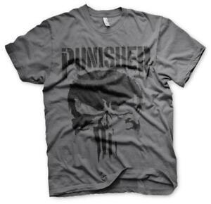Officially-Licensed-Marvel-Punisher-Hommes-T-shirt-gris