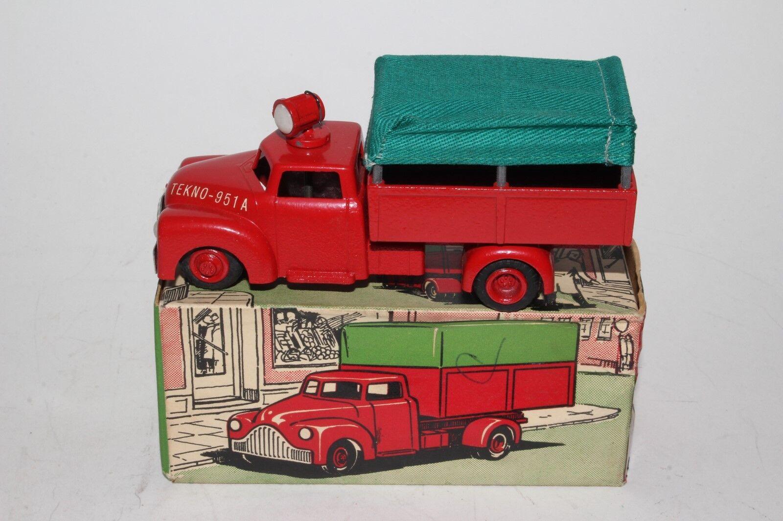 garantía de crédito Tekno Juguetes, década de 1950  951-A cubierto cubierto cubierto camión con caja, agradable Original  buena calidad