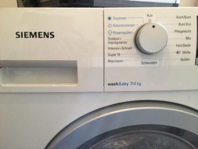 Siemens wd15g490 vollwaschtrockner isensoric extraklasse eek a ebay