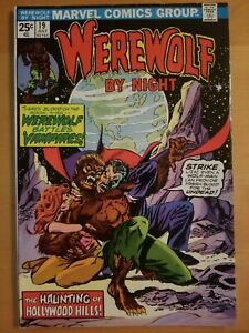 WEREWOLF-BY-NIGHT-19-1974-MARVEL-BRONZE-AGE-COMICS-Very-Nice