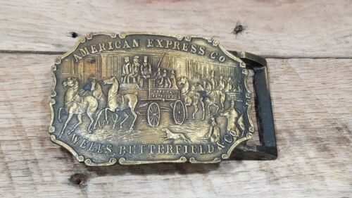 Vintage American Express Bulldog Belt Buckle, Well