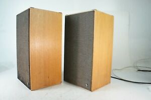Schneider-Vintage-Boxen-2-Weg-44cm-hoch-Lackschaden-60er-70er-Jahre-Q1-356