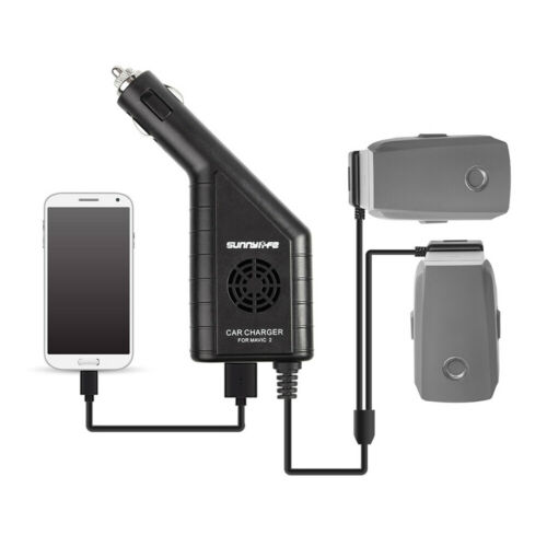 For DJI MAVIC 2 PRO ZOOM Car Charger Dual Battery ControllerUK Seller