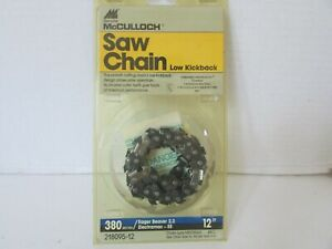 MCCULLOCH-SAW-CHAIN-LOW-KICKBACK-380-SERIES-EAGER-BEAVER-2-3-12-034-218095-12-NEW
