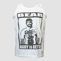 HAIRY BEAR GAY PARTY CLUBBING UNUSUAL FESTIVAL T-SHIRT WHITE VEST TOP S-XXL