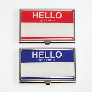 Design Ideas Hello Identity Business Name Card Case Color Blue 3210403 Ebay