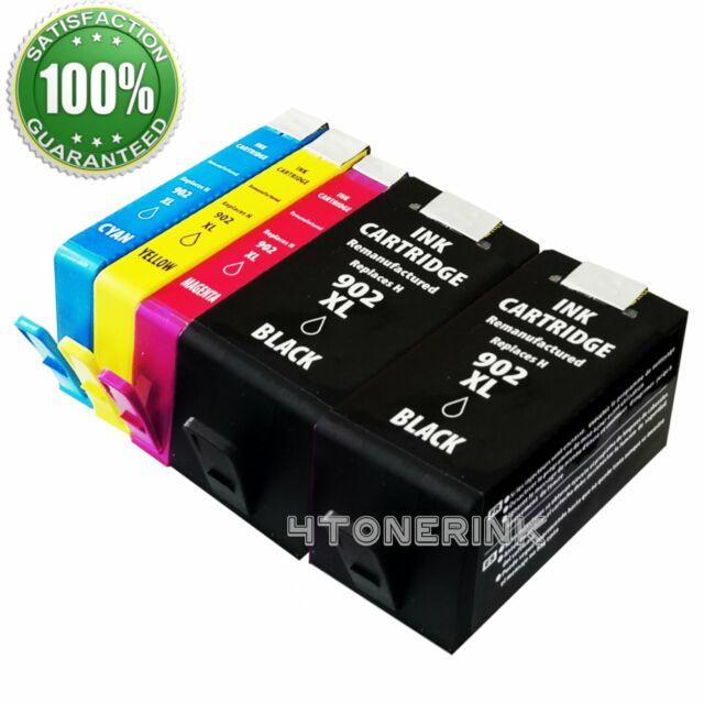 5 Pk Ink Cartridge Set for HP OfficeJet 6950 6951 6954 5958 6962 6968 902XL 902L