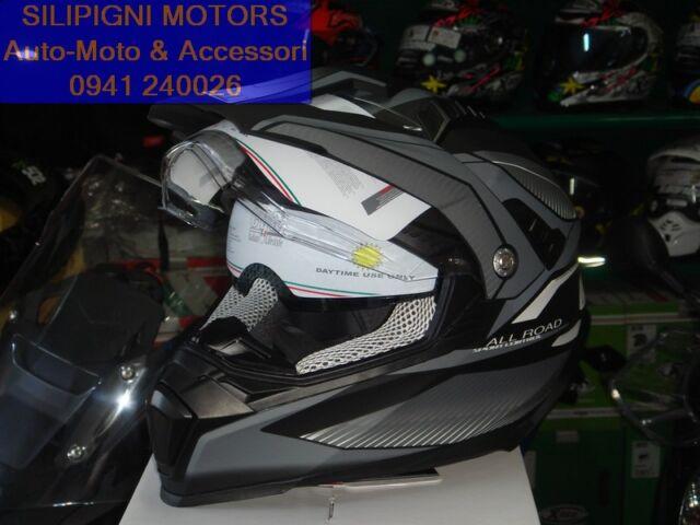 CGM 606G FORWARD GIALLO OPACO CASCO INTEGRALE MOTO ENDURO OFF ROAD FUORISTRADA