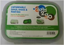 New Good 2 Go Expandable Lunch, Snack & Food Box with 2 Compartments - Green