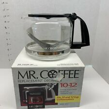 Mr Coffee Replacement Decanter 12 Cup Coffee Pot White Clear Glass 1995 PD12 in Original Box