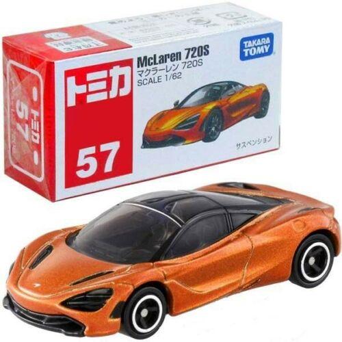 NEW Takara Tomy Tomica #57 McLaren 720S Scale 1//62 Mini Orange Diecast Toy Car