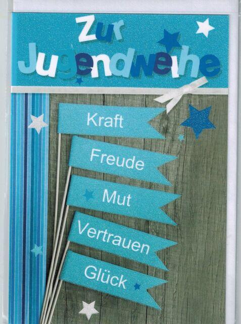 Jugendweihe Karte Schreiben.Jugendweihekarte Karte Zur Jugendweihe 3d Geldkarte