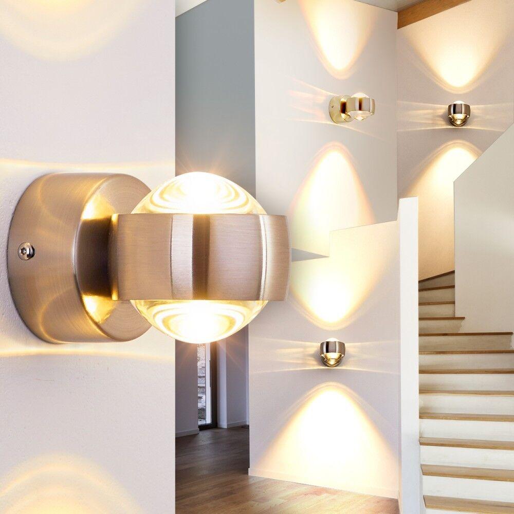 Wandleuchte LED Design Schlaf Wohn Zimmer Lampen Flur Wand Wand Wand Leuchten Silber Farbe | Lebendige Form  0aea36