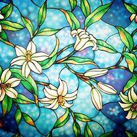 Bofeifs Decorative Valances Privacy Window Film Frosted Window Film Stained Film