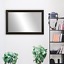 thumbnail 25 - Framed Wall Mirror - Black, White, Espresso/Brown, Nickel