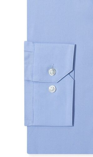 NWT $81 ALFANI Men SLIM-FIT STRETCH BLUE LONG-SLEEVE DRESS SHIRT 15-15.5 34//35 M