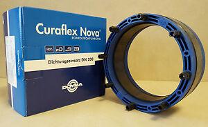 doyma curaflex nova uno dichtungseinsatz dn 200 f r rohre kabel von 154 160 mm. Black Bedroom Furniture Sets. Home Design Ideas