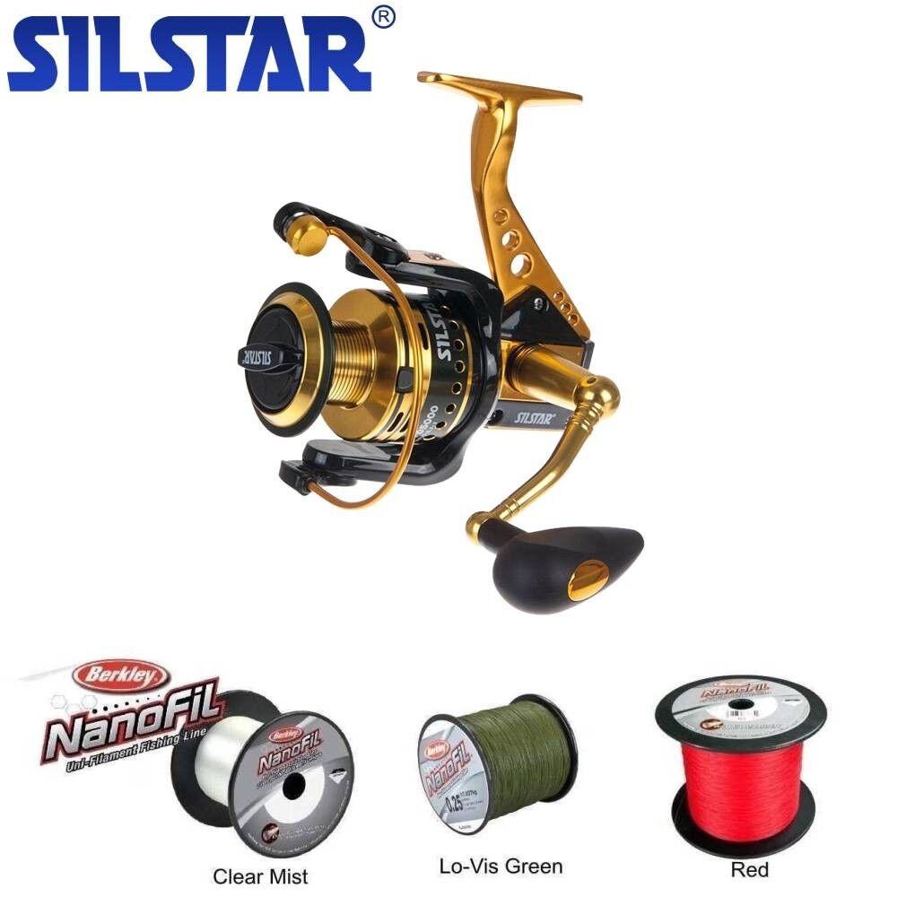 Silstar Allisa FD FD FD 5000  Speed 5,5:1 + 300m NANOFIL 0,25mm Dunkel Grün e19c60