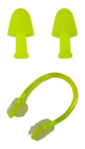 BLUE REEF Plastic Padded Nose Clip /& Push In Cone Ear Plugs Set Adults One Size