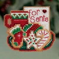 Mill Hill Beads Cross Stitch Kit 2.75 x 2.5 in ~ FOR SANTA  #18-3302 Sale