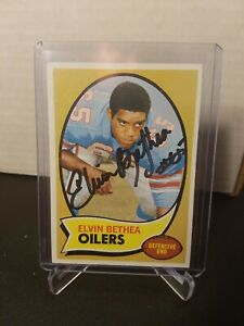 1970 Topps #43 Elvin Bethea RC Rookie Oilers In person auto