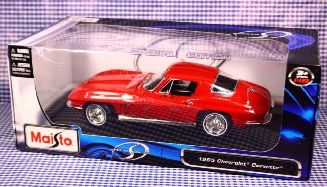 1 Maisto 1965 CHEVROLET CORVETTE Special Edition Car Collection 1:18
