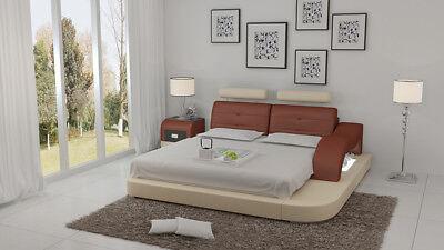 Wasserbett Hotel Doppel Bett Betten Komplett Lederbett Polsterbett Wasser Lb8802 Volumen Groß