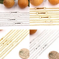 Wholesale 10/50Pcs Plated Filigree Metal Chain Necklace Jewelry Findings 2x1mm