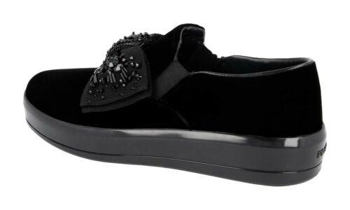 Chaussures 36 1s125h Nouveaux Prada Luxueux 5 37 Noir RqRBUxHw
