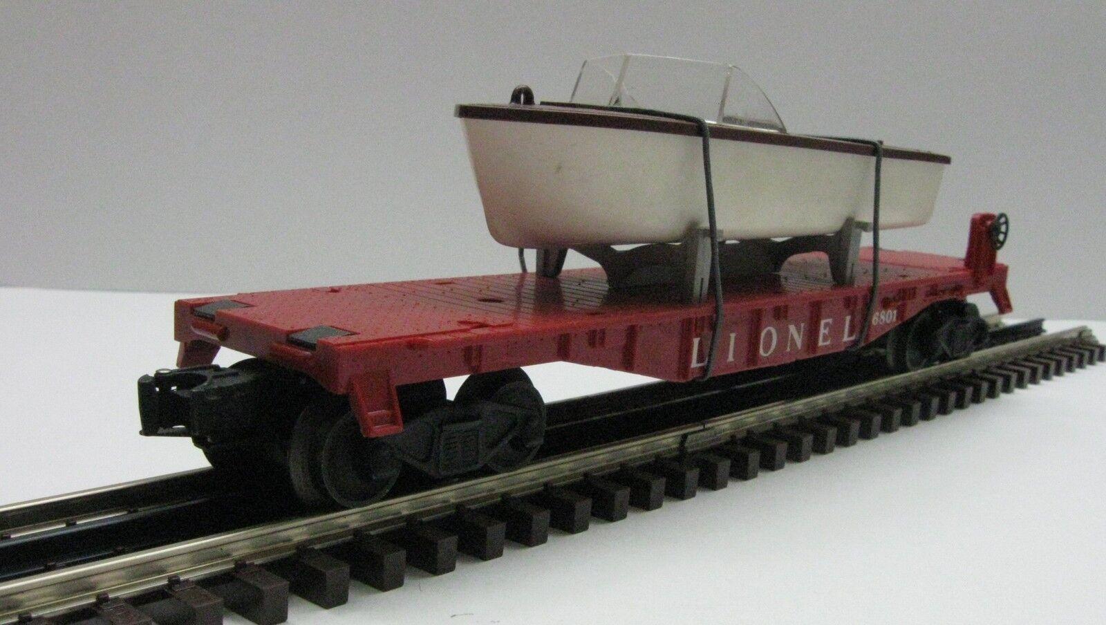Lionel 6801 Calibrador o coche plana Marrón Con Casco De Barco