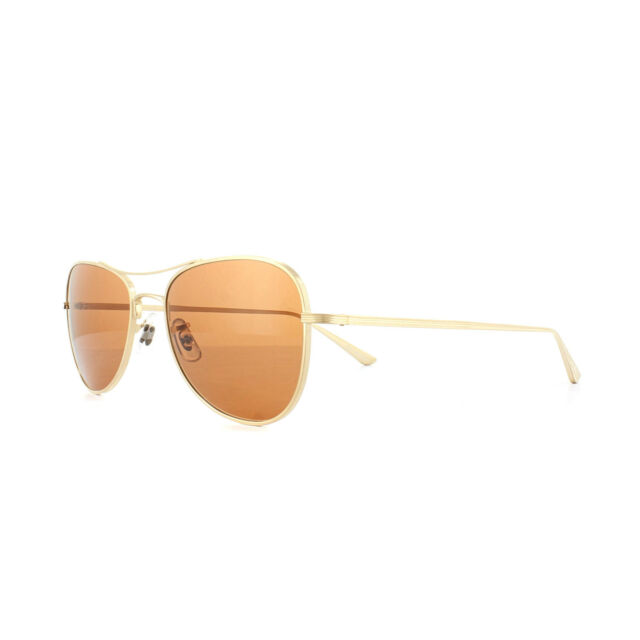 26d754ac2b Oliver Peoples Ov1198st The Row Executive Suite Gold Aviator Sunglasses 1198