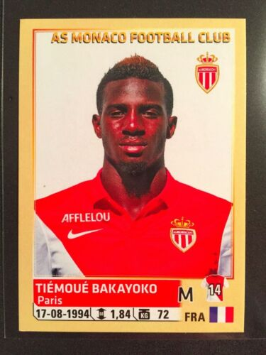 2014-15 Panini Foot France Tiemoue Bakayoko Rookie sticker Monaco