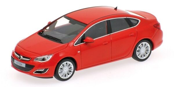 Opel Astra 4 Door 2012 rosso 1:43 Model MINICHAMPS
